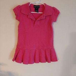 Ralph Lauren, Pink T-Shirt/Dress, 18 Months